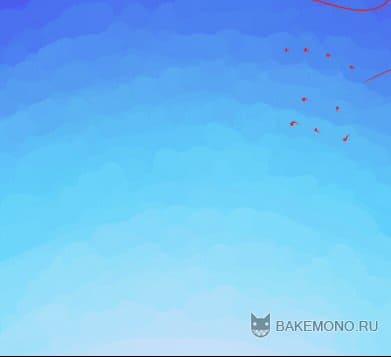 Как рисовать небо и облака в Paint Tool SAI
