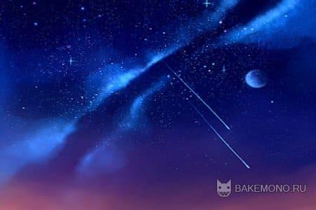 Как рисовать ночное небо в Paint Tool SAI